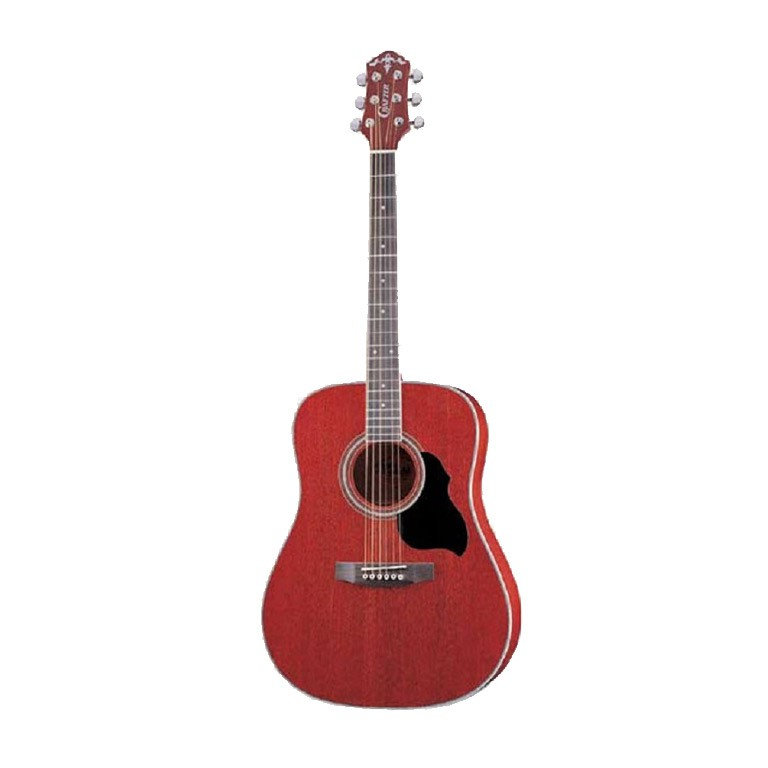 CRAFTER MD 42/TR (W/SB-DG) Red Acoustic Guitar with Crafter SB-DG